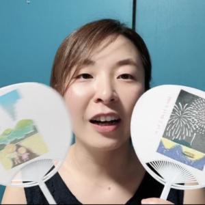 ダウンロード版 :津久井智子の消しゴムはんこ教室:7月の教材「夏の思い出うちわ」